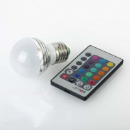 Bec LED 16 culori RGB si telecomanda 3W