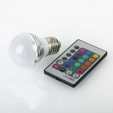 Bec LED 16 culori RGB si telecomanda 3W
