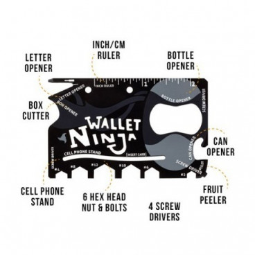 Accesoriu Ninja Wallet multifunctional 18 in 1