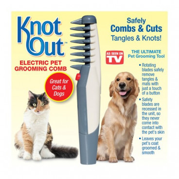 Perie ingrijire blanita caini si pisici Knot Out