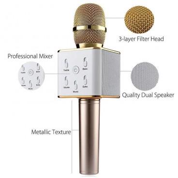 Microfon wireless karaoke profesional cu boxe si bluetooth